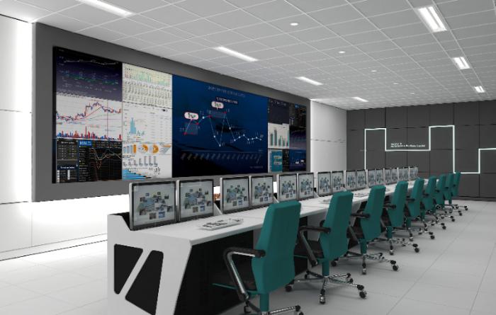 LG유플러스 컨소시엄이 구축하는 '세종시 자율주행 빅데이터 관제센터' 내 관제실 및 상황판 예상도.