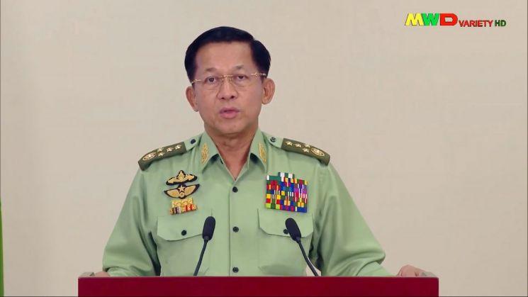 민 아웅 흘라잉 미얀마군 총사령관 [이미지출처=연합뉴스]