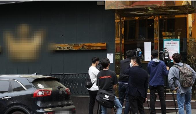 지난해 5월7일 오후 코로나19 확진자가 다녀간 서울 이태원의 한 클럽 [이미지출처=연합뉴스]