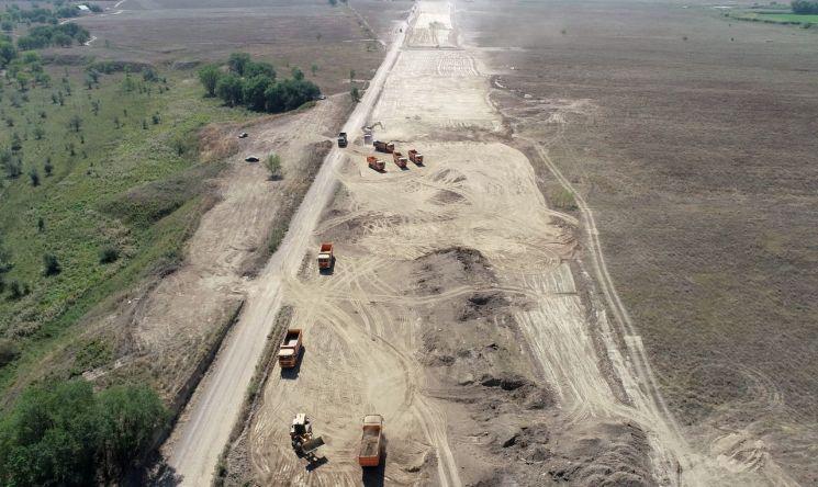 카자흐스탄 알마티 순환도로 공사현장(사진=SK건설)