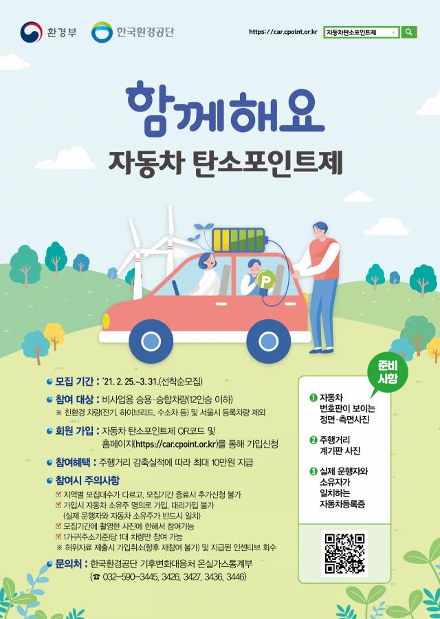 창원시, 자동차 탄소포인트제 참여자 모집 … 인센티브 지급