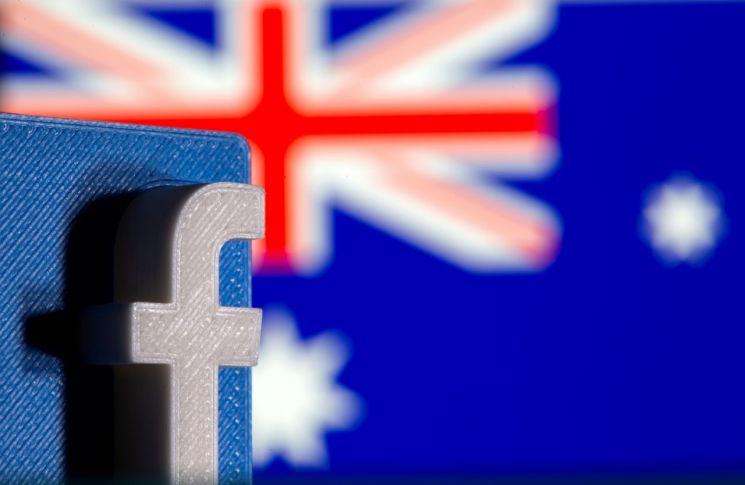 호주 국기와 페이스북 로고 [이미지출처=로이터연합뉴스]