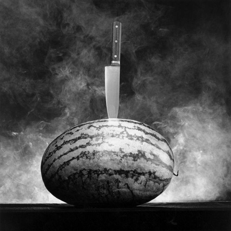 메이플소프의 'Robert Mapplethorpe_Watermelon with Knife'