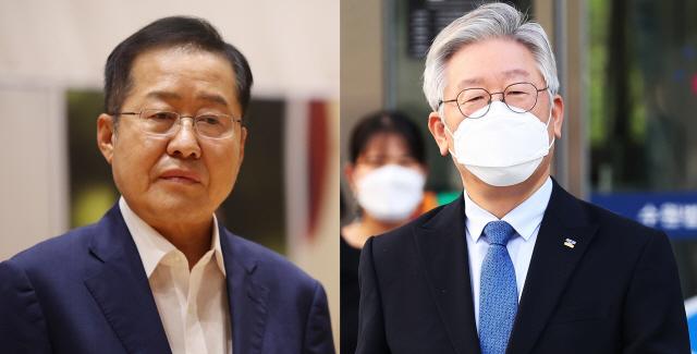 홍준표 무소속 의원(왼쪽), 이재명 경기도지사(오른쪽). 사진 = 연합뉴스