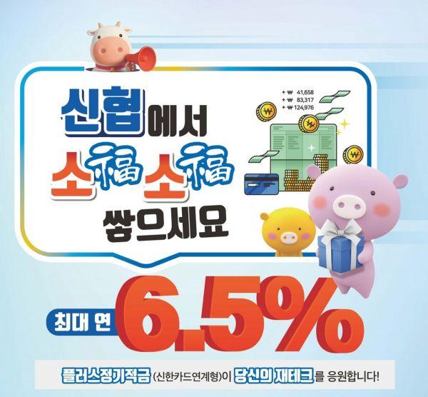 신협중앙회가 출시한 '플러스 정기적금' 상품 이미지 포스터 [사진=신협중앙회]