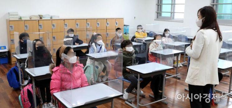[포토]선생님과 만난 초등학생들