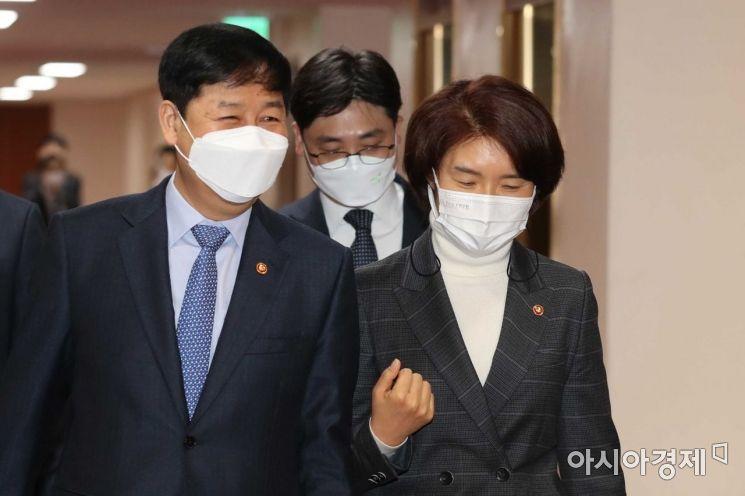 [포토]국무회의 향하는 구윤철·한정애