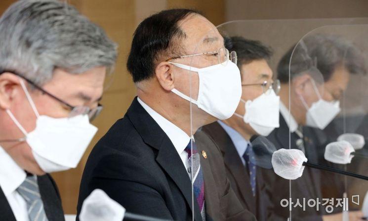 [포토]추가경정예산안 발표하는 홍남기