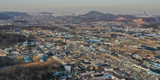 경기도 시흥시 과림동 일대 모습 [이미지출처=연합뉴스]