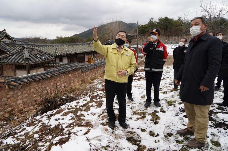 [포토] 산림청 최병암 차장, 안동 산불피해지 방문·점검