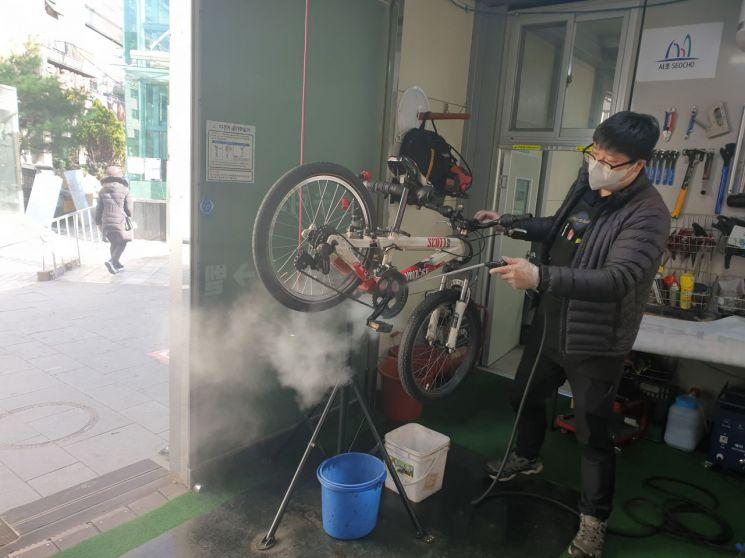 서초구, 자전거 세차 무료 서비스 시작