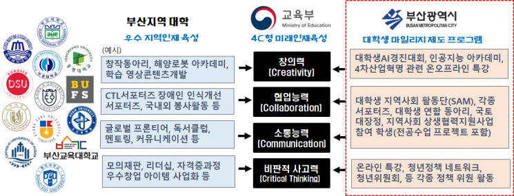 4C역량 대응 대학 비교과 프로그램 예.