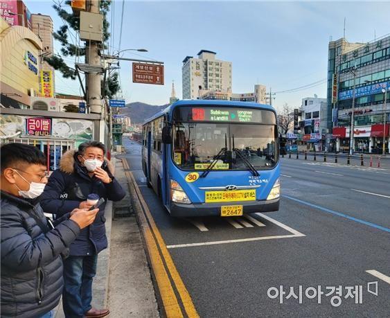 단속카메라가 장착된 인천 시내버스 [사진 제공=인천시]