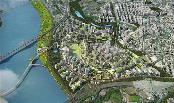 구리시 한강변 도시개발사업 조감도 (사진=KDB산업은행컨소시엄)