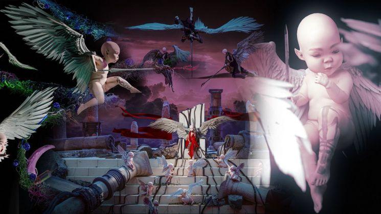 그라임스가 최근 580만달러(약 65억원)에 판매한 디지털 그림 컬렉션 '워 님프' 중 한 그림의 모습 [사진출처=트위터]