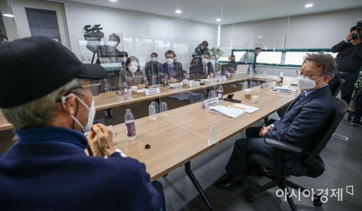 [포토]벤처업계단체장들과 의견 나누는 권칠승 장관
