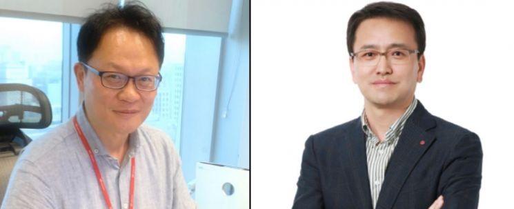류정환 SK텔레콤 5GX인프라그룹장(왼쪽)과 김대희 LG유플러스 NW인프라그룹장