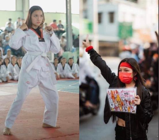 지난 3일 미얀마 쿠데타 반대 시위에서 군경의 총격에 사망한 19세 소녀 치알 신. [이미지출처=연합뉴스]