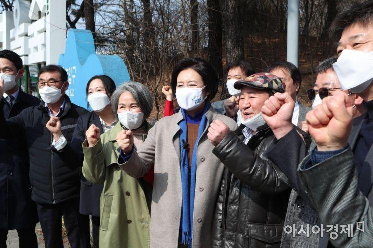 [포토] 시민들 만나는 박영선 후보