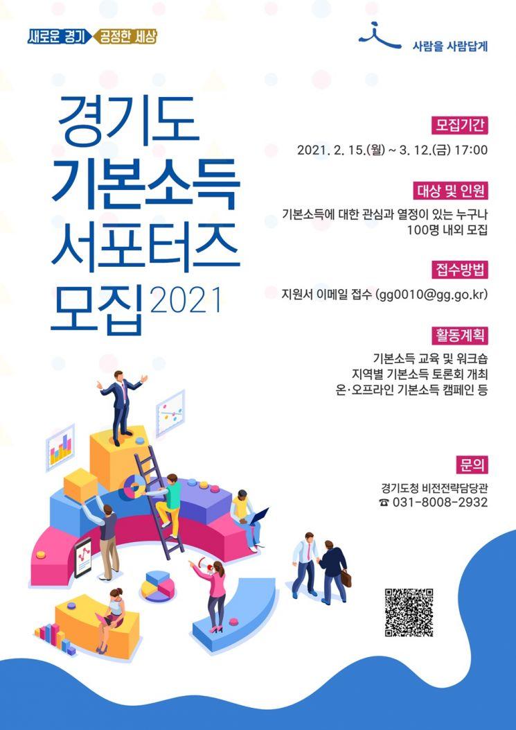 경기도, 세계최대 '기본소득 박람회' 참관단·서포터즈 모집