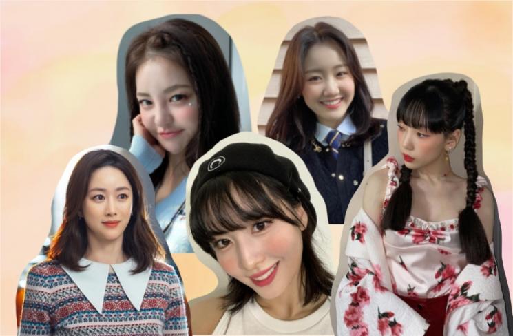 사진=태연, 브레이브걸스 유정, 트와이스, 진지희, 전혜빈 인스타그램