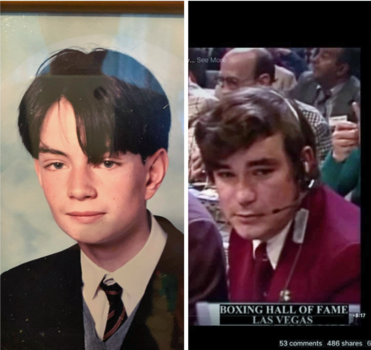 15세 당시의 사이먼(왼쪽)과 셰리던의 젊은 시절(우)/ 사진 = 더선 캡처
