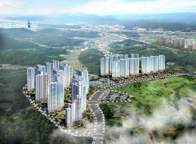 현대건설, GS건설과 4000가구 대단지 '봉담 프라이드시티' 5월 분양