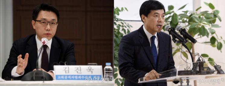 (왼쪽부터)김진욱 고위공직자범죄수사처(공수처)장과 이성윤 서울중앙지검장.