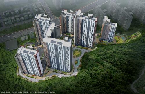 노후주택 밀집지역 속 새 아파트, 가격 상승 남달라