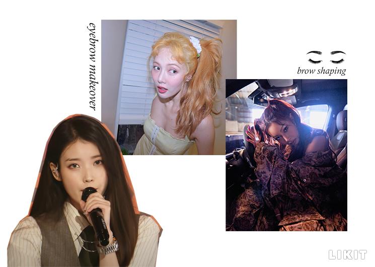 이미지를 바꾸는 눈썹 메이크업. ⓒMBC '쇼!음악중심', 현아 인스타그램, 제시 인스타그램, Unsplash