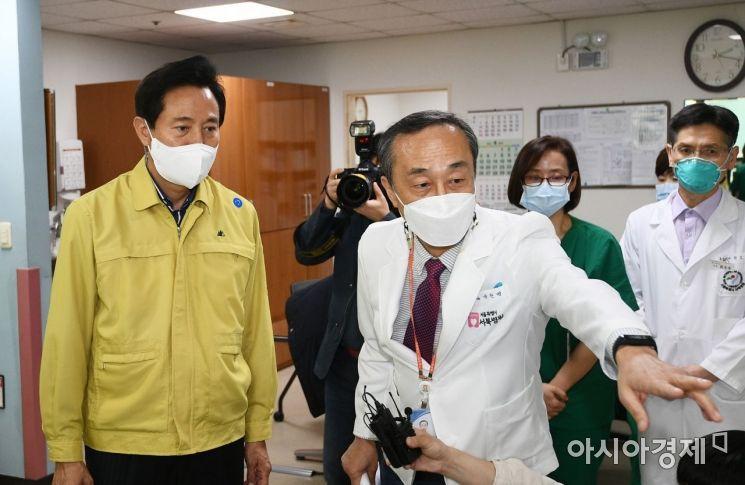 [포토] 서북병원 점검하는 오세훈 시장