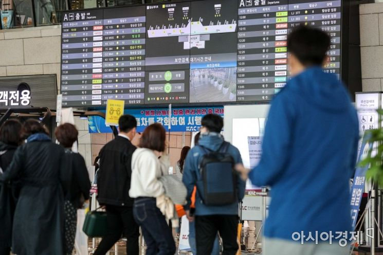 [포토]김포공항 통해 여행 나선 시민들