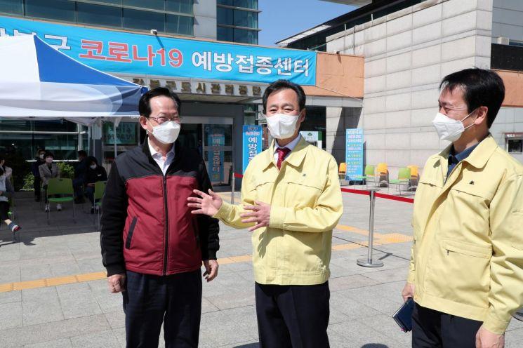 강북구, 백신접종센터 본격 가동 만 75세 이상 어르신 접종