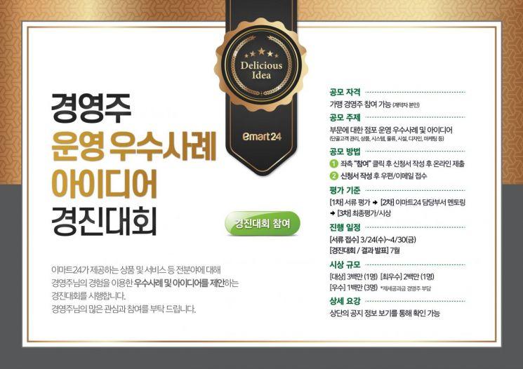 """""""경쟁력 강화"""" 이마트24, '경영주 아이디어경진대회' 개회"""