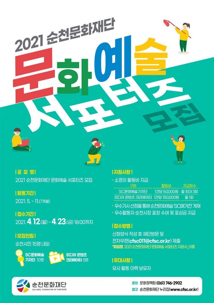순천문화재단, 올해 문화예술 서포터즈 공개 모집