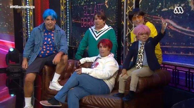 방탄소년단(BTS)을 패러디한 칠레의 코미디 TV쇼 '미 바리오'(Mi Barrio). 사진=트위터 캡처.