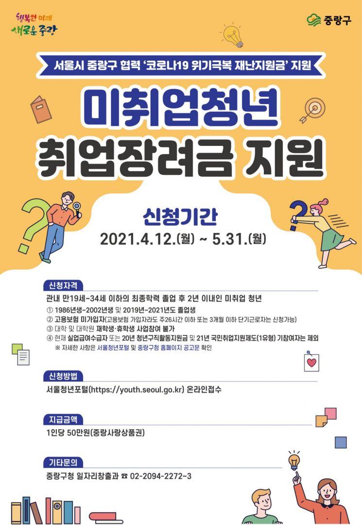 류경기 중랑구청장 미취업 청년 6600명 중랑사랑상품권 50만원 지급한 까닭?