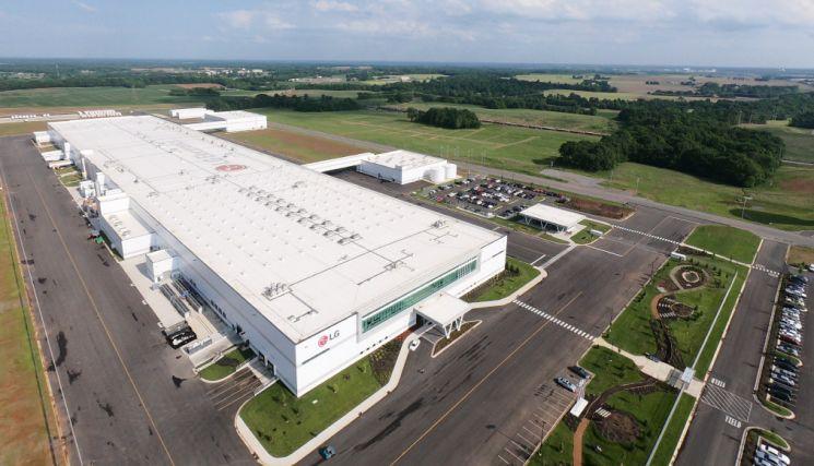 미국 테네시주 클락스빌에 위치한 LG전자 테네시 세탁기공장 전경사진(사진제공=LG전자)