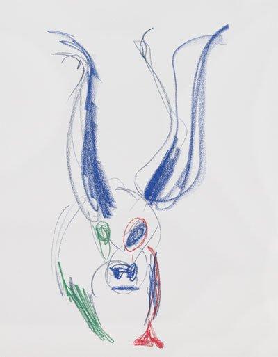 하지원의 그림 '슈퍼카우 3'.