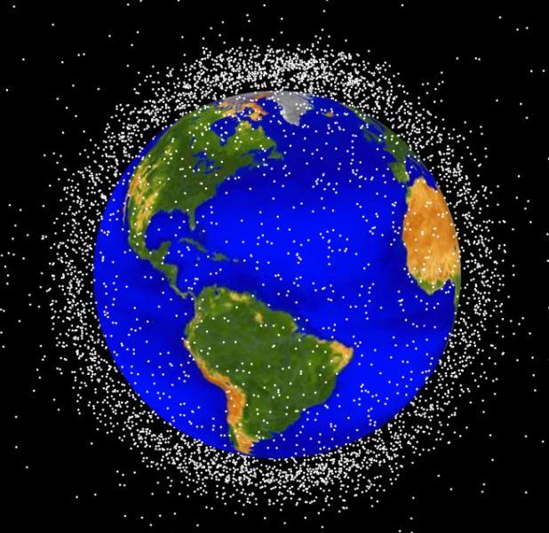현재 지구 저궤도에 몰려 있는 우주 쓰레기를 표현한 이미지 / 사진=미 항공우주국(NASA)
