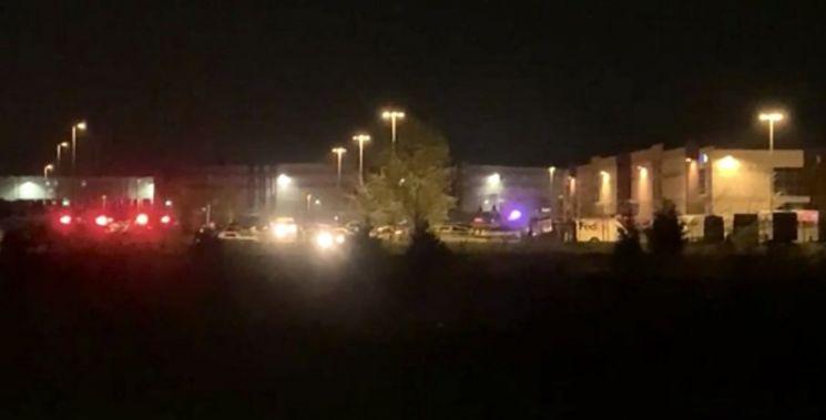 미국 매체 WRTV가 공개한 미국 인디애나주 인디애나폴리스 페덱스 물류센터 총격사고 현장 (출차=AP통신)