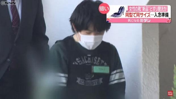 일본에서 여자 구두만 골라 훔친 남성이 경찰에 체포됐다. 사진=유튜브 ANNnewsCH 채널 영상 캡처.