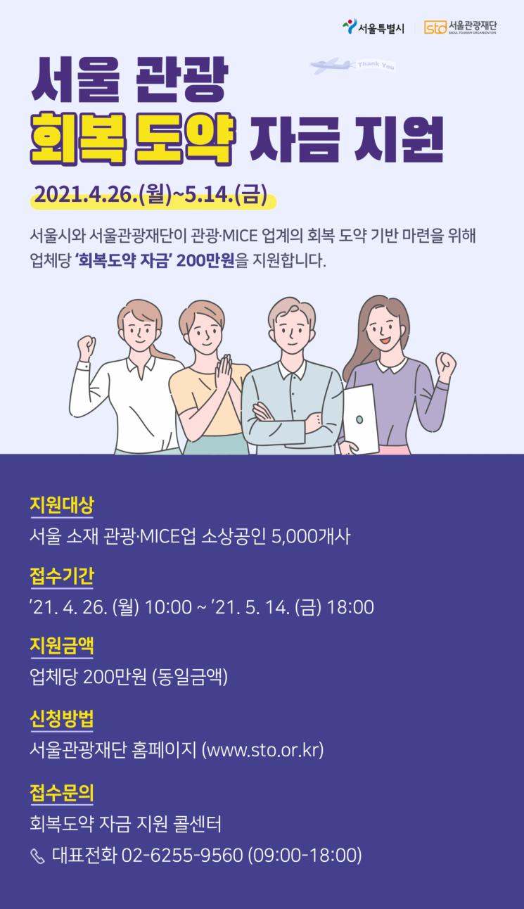 서울시, 코로나 피해 관광 소상공인 5000개사에 100억 지원