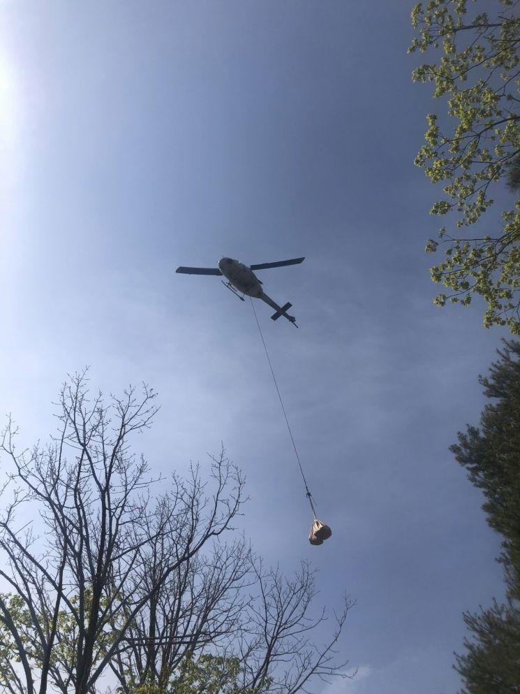 백두대간 등산로 정비 나선 김천시 … 산불용 헬기 투입해 예산절감 효과 '톡톡'