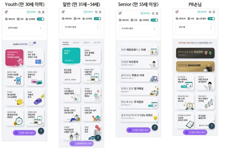 하나은행, 맞춤형 '하나원큐' 메인화면 서비스 출시