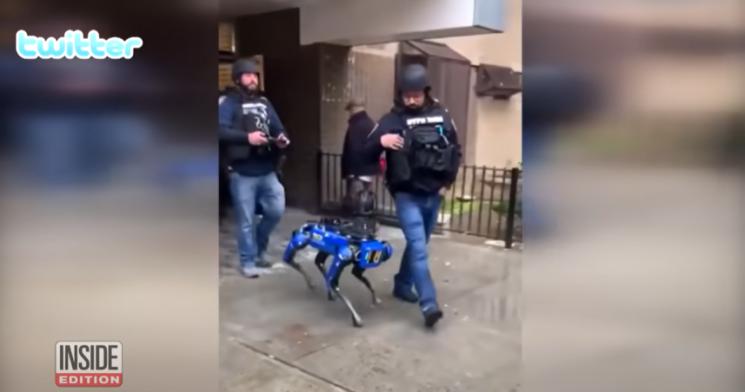 사건 현장에 투입된 로봇 경찰견의 모습. 사진=인사이드 에디션 유튜브