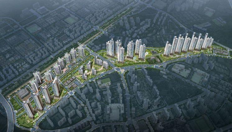 경기 일산 풍동2지구 도시개발사업 조감도 (사진=포스코건설)
