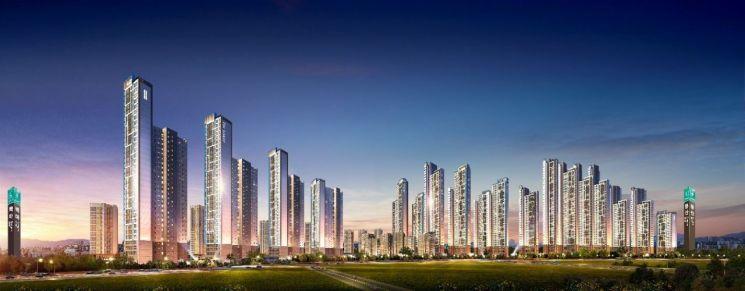 경기 일산 풍동2지구 도시개발사업 투시도 (사진=포스코건설)