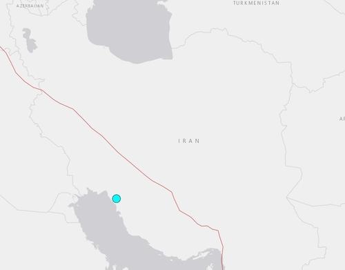 이란 지진 발생 지역 [이미지출처=미국 지질조사국(USGS) 홈페이지 캡처]