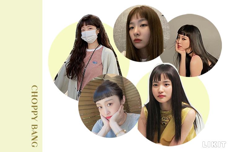 짤막하고 삐죽빼죽한 모양이 포인트인 처피뱅. ⓒ소율, 슬기, 한예슬, 니콜, 제이와이드컴퍼니 인스타그램
